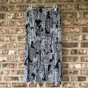 Soft by Avenue Floral Elastic Waist Skirt Sz 18/20